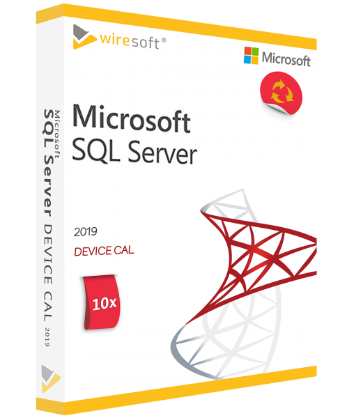MICROSOFT SQL SERVER 2019 - 10 PACK DEVICE CAL