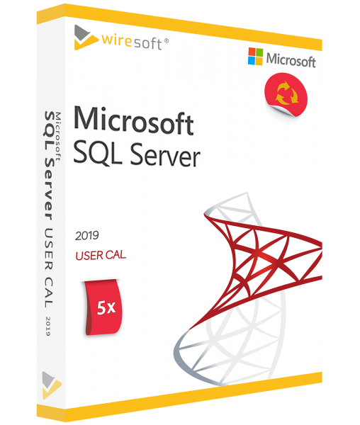 MICROSOFT SQL SERVER 2019 - 5 PACK USER CAL