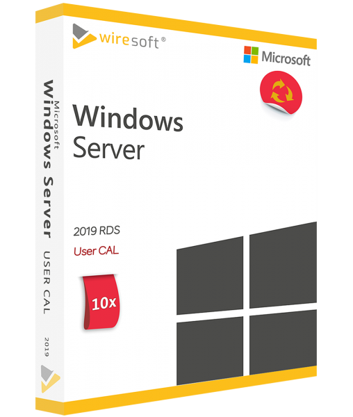MICROSOFT REMOTE DESKTOP SERVICES 2019 - 10 PACK USER CAL