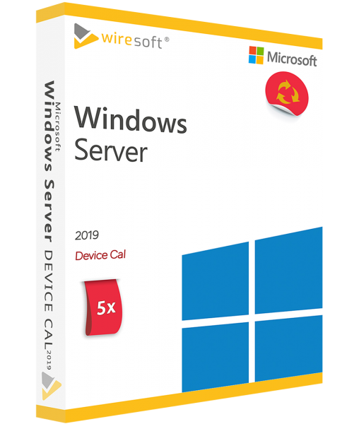 MICROSOFT WINDOWS SERVER 2019 - 5 PACK DEVICE CAL
