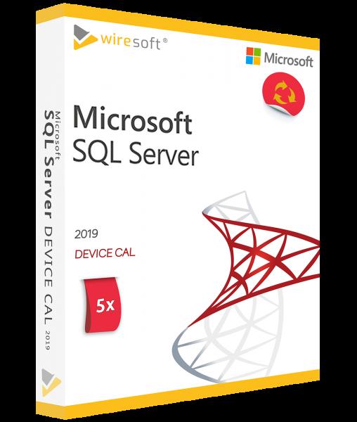 MICROSOFT SQL SERVER 2019 - 5 PACK DEVICE CAL