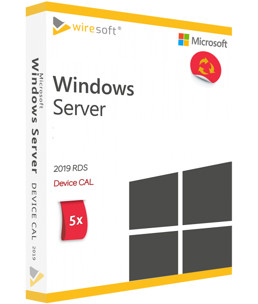 MICROSOFT REMOTE DESKTOP SERVICES 2019 - 5 PACK DEVICE CAL
